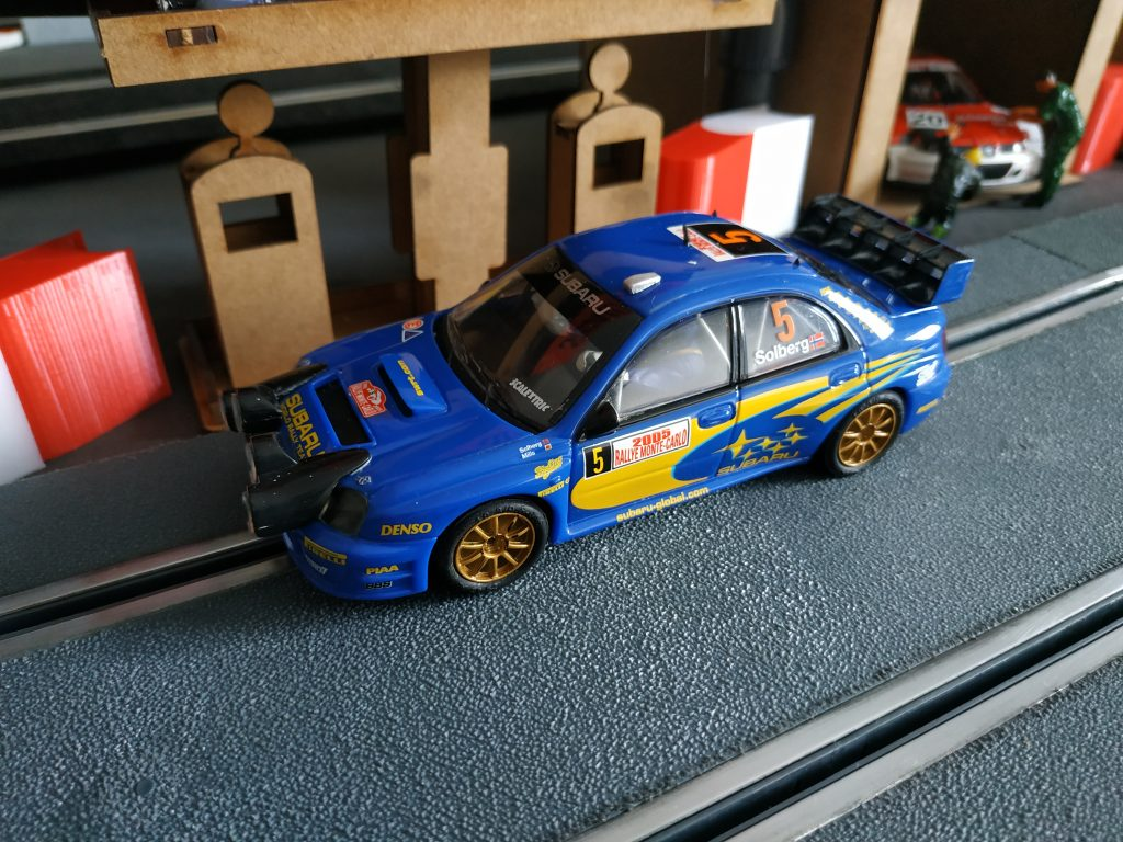 Subaru impreza scalextric