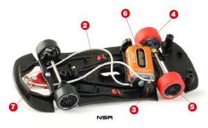 partes coche de slot NSR